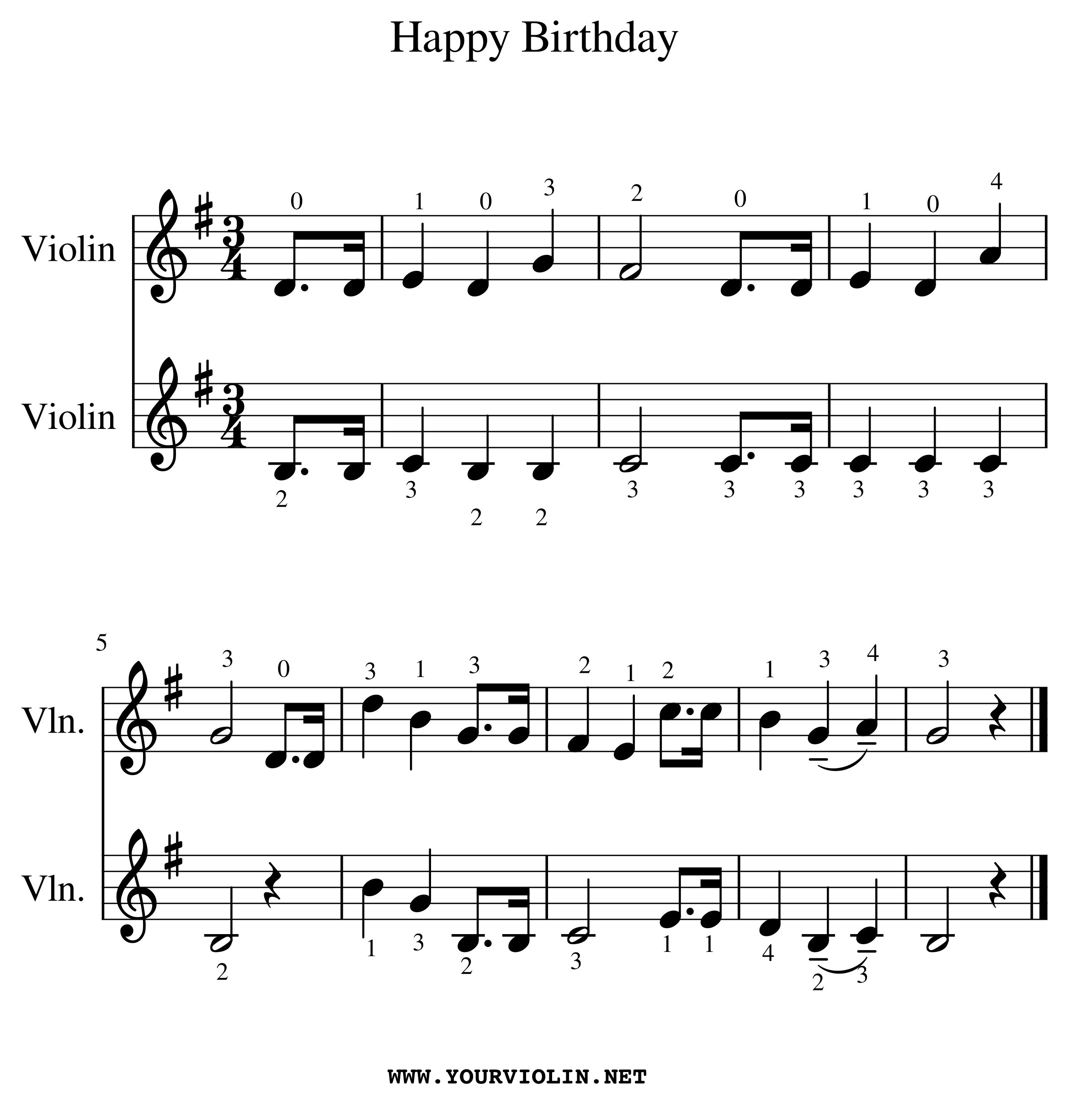 Happy Birthday On Violin Tutorial And Free Sheet Music